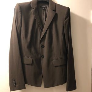 Ann Taylor pinstripe fitted blazer